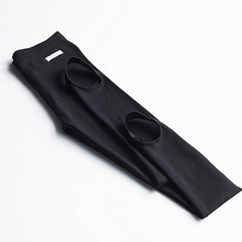 LVLIDAN Leggings Pants LVLIDAN Stretch Hose Leggings Innenfutter Winter Damen Baumwolle mit Füßen Primer dehnbar Taille one size schwarz