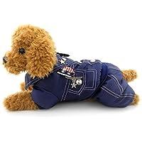 SELMAI Armee General Outfits Kleiner Hund Katze Halloween-Kostüm Overall Badge Puppy Pet Fleece Mantel Jacke Wattiert Warm Winter (Dies Stil Run Klein, die Nächste Größe Bitte), M, Blau