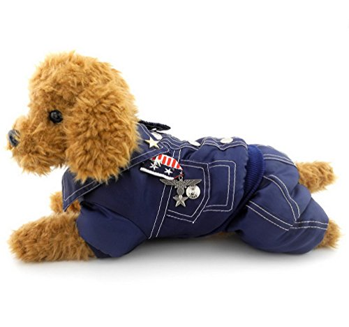 SELMAI Armee General Outfits Kleiner Hund Katze Halloween-Kostüm Overall Badge Puppy Pet Fleece Mantel Jacke Wattiert Warm Winter (Dies Stil Run Klein, die Nächste Größe Bitte), M, (Puppy Pet Kostüm)