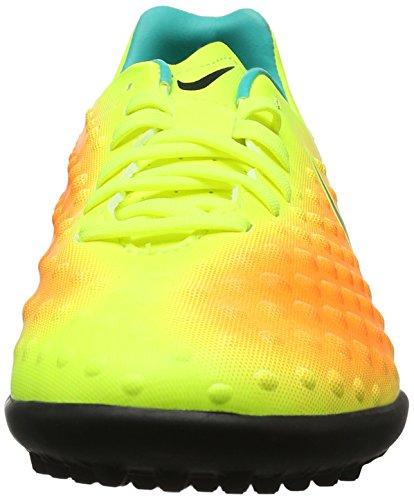 Nike Magistax Opus Ii Tf, Scarpe da Calcio Uomo Giallo (Volt/Black-Total Orange-Clear Jade)