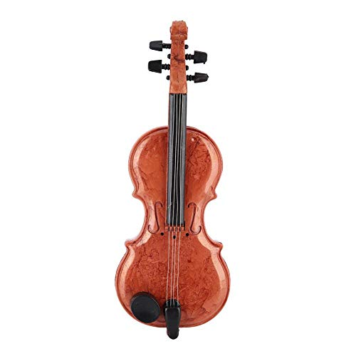 AUNMAS Spieluhr Violine Form Mini Größe Kunststoff Persönlichkeit Desktop Kunstwerk Spielzeug Ornament für Kinder Freunde Geburtstagsgeschenk (Kind Größe Violine)