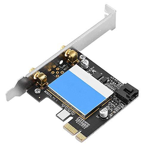 Bewinner Bluetooth 4.0 Desktop-Netzwerkadapter, Dualband 5G 867 Mbit/s WLAN-Netzwerkkarte PCIE-Netzwerkkarte Für Intel 7265, PCI E X1 X4 X16-Grafikkartensteckplatz Universal -