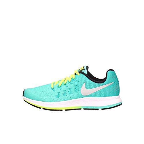 Nike Zoom Pegasus 33 (GS), Zapatillas de Running para Niñas, Turquesa (Hyper Turq/Metallic Silver-Clear Jade), 37 1/2 EU