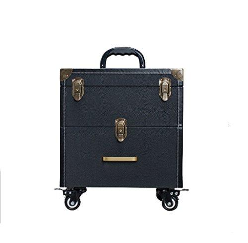 ZBBZ-BAG Coffrets de voyage cosmétiques Boîte de cosmétiques Grand format professionnel de mode, Maquillage de valise Maquillage Boîte de beauté Boîte à outils de polonais à ongles (style : # 4)