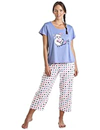 Camille Various Style Fun Design Womens Character Pyjama Sets