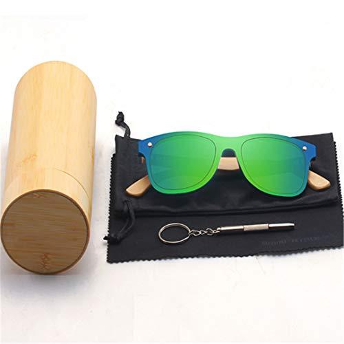 DAIYSNAFDN Holz Sonnenbrillen für Frauen & Männer Bambus Brillen handgefertigte Holz Brillen C2