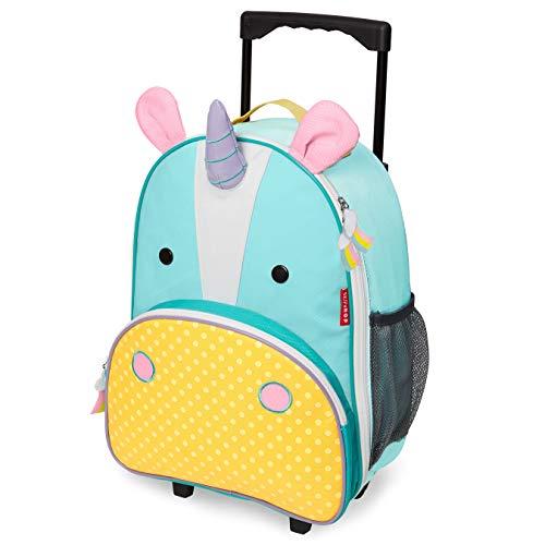 Skip Hop Zoo Luggage, Reisetrolley für Kinder, mit Namensschild, mehrfarbig, Einhorn Eureka (Rucksack Schmetterling Rolling)