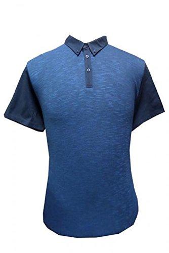 Ben Sherman Herren Poloshirt, Einfarbig blau blau Marineblau Blazer
