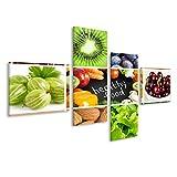 islandburner Quadro Moderno Cibo Sano Vegan Cibo Vegetariano Stampa su Tela - Quadro x poltrone Salotto Cucina mobili Ufficio casa - Fotografica Formato XXL
