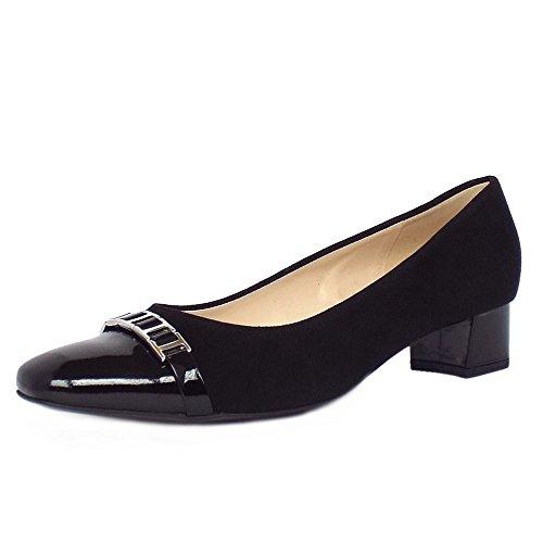 tacon-corte-zapatos-peter-kaiser-arla-mujeres-en-ante-negro-y-patente-75-black-sued