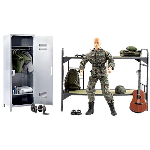 World Peacekeeper Set Life Man Military Action Figure | 30,5cm High | 1: 6 Scale | Soldier Combat with more than 36 Accessories | Intended for children and adults