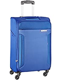American Tourister Troy Polyester 68 cms Royal Blue Softsided Suitcase (AMT TROY SP68 ROYAL BLUE)