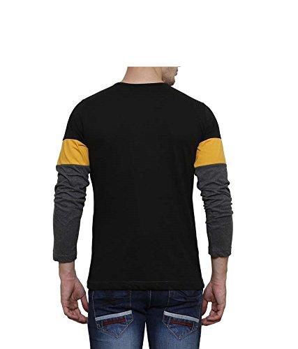 Urbano Fashion Men's Striped Slim Fit T-Shirt (Cns-RND-blayel-l)