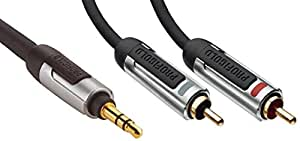 Profigold High Performance Portable Audio Interconnect 3.5mm to RC 2 mtr PROA3402