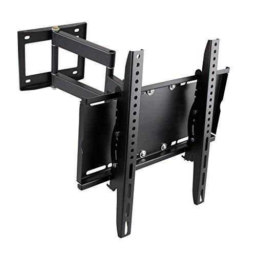 BAYTTER Universal TV Wandhalterung schwenkbar neigbar und ausziehbar, Wandhalter für LCD LED Fernseher mit 66 - 140cm, passend für 26 - 55 Zoll, max. VESA 400x400mm, Wandabstand: 100 mm-450mm, max. 50 kg (Schwarz) Insignia Lcd 32