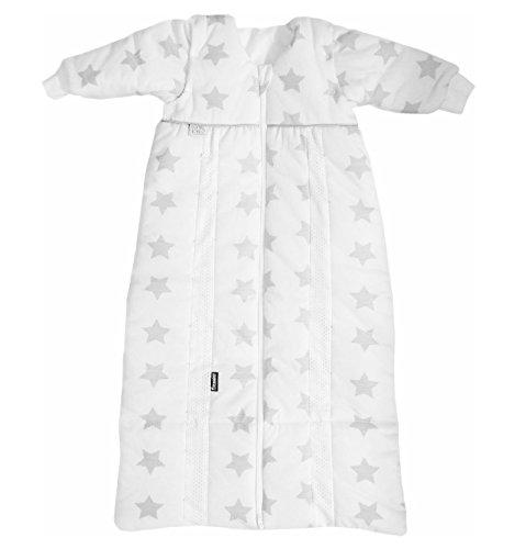 Odenwälder Babyschlafsack Prima Klima Thinsulate, Größe:90-110, Design:Sterne grau