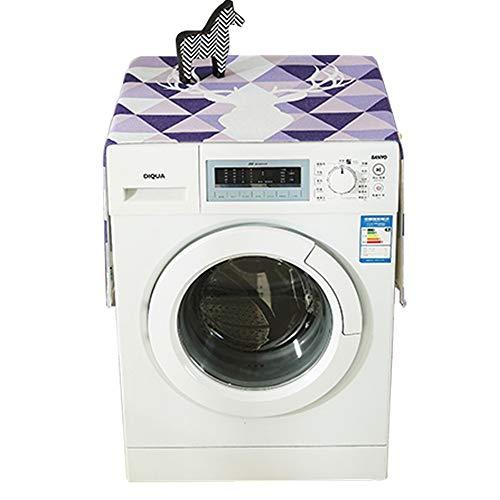 Yishelle Waschmaschine abdecken Trommelwaschmaschine Abdeckung Stoff Stoff Kühlschrank Staubschutz Sonnencreme Abdeckung Handtuch Staubtuch Abdeckung. Staubdichter Schutz (Größe : M) - Sonnencreme, Handtuch