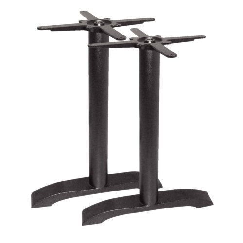 Bolero DN642 Twin Leg Table Base, Cast Iron