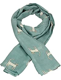 SwankySwans Stunning Scarves - Kitty Cat Sketch Print Womens Ladies Large Viscose Scarf Shawl Wrap