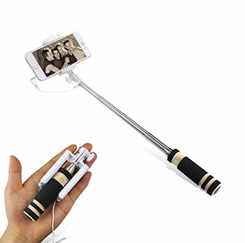 R.P.L. Selfie Stick AUX Selfie Stange Stab MINI Monopod Smartphone Galaxy S6 / S6 Edge / S5 / S5 mini und Apple iPhone 6 6S / 6 Plus 6+ 6S Plus / iPhone 3 3GS / iPhone 4 4 s / iPhone 5 5S / S4 / S4 Mini / S3 Mini / S7 / S7 mini