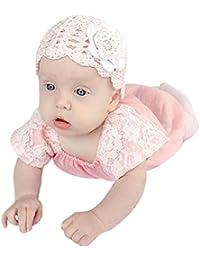 QUICKLYLY 0-24 Meses Ropa Bebe Recien Nacido Niña Verano Peleles Vestir  Manga Cortos Mameluco e08206ab659