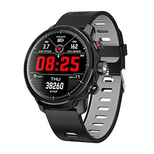 IGRNG Sportuhr, smart Uhr HD runder Bildschirm große Batterie wasserdichte Funktion Taschenlampe Wettervorhersage Multi-Bewegung, für Androi, iOS-Plattform