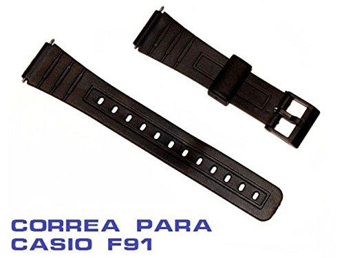 Correa Reloj Tipo Casio F91 Negra