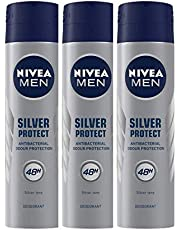 Nivea Deo Silver Protect Dynamic Power, 150 ml (Pack of 3)
