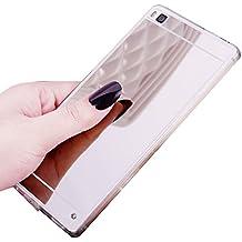 Funda Espejo Silicona Gel Tpu para Huawei P8 Lite 2017 Color Plata
