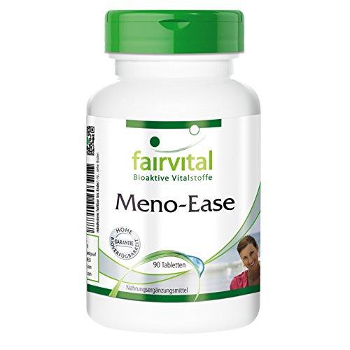 Meno-Ease - für 45 Tage - VEGAN - HOCHDOSIERT - 90 Tabletten - mit Wild Yam, Dong Quai und mehr