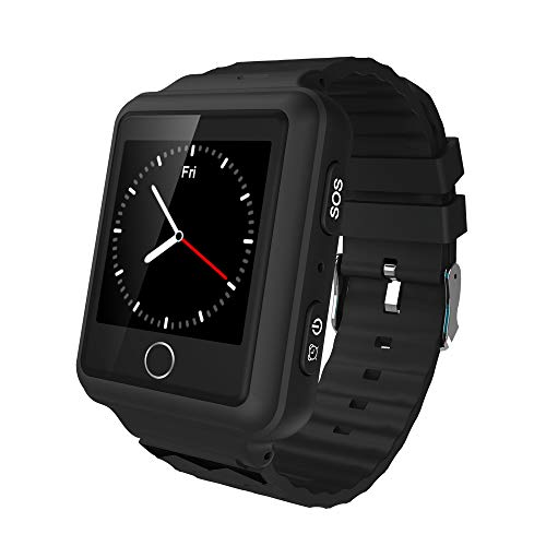 BILLY'S HOME Kids Smart Watch Phone GPS Tracker Accurate WiFi Locator IP67 Waterproof SOS Call Voice Chat Touchscreen Digital Armband,Black (Gps-locator-armband)