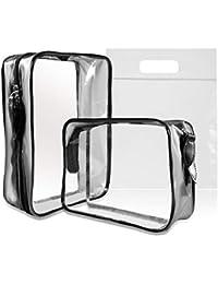 e0f7cb22b Neceser Transparente, MOCOCITO Bolsa de Cosméticos Impermeable, Bolsa de  Aseo Claro PVC Transporte de
