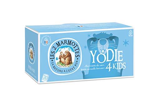 Les 2 Marmottes Infusion Yodie 4 Kids - Tilleul Camomille Fleur d'oranger - Bien-Être et Détente- Gamme pour le soir - Infusion pour enfants - Idéal en Glacé - 30 Sachets par boite - Made in France