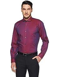 Amazon Brand - Arthur Harvey Men's Regular Fit Solid Formal Shirt