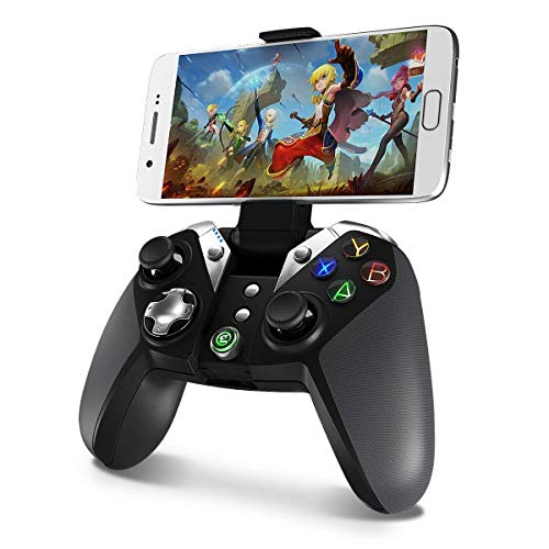 GameSir G4 Bluetooth Gamepad Android Gamecontroller Game Controller Joystick für Android Smartphone/Smart Handy/Smart TV/Samsung Gear VR Schwarz (S5-gaming-controller Galaxy)