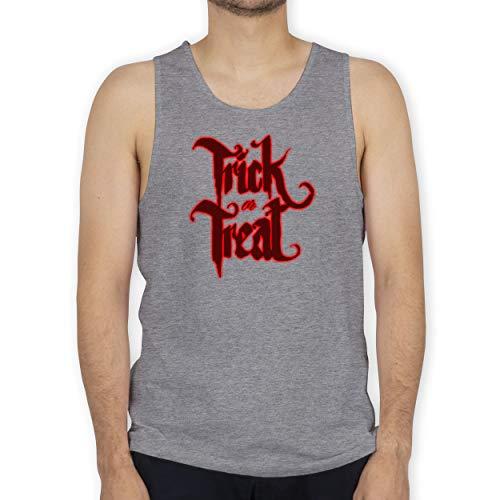 Shirtracer Halloween - Trick or Treat Halloween Typo - S - Grau meliert - BCTM072 - Tanktop Herren und Tank-Top - Best Trick Or Treat Kostüm
