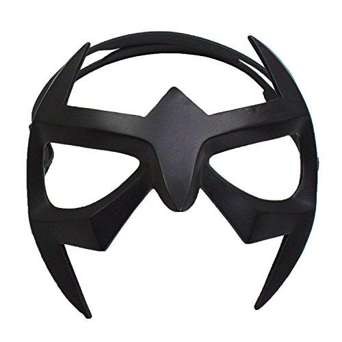 Herren Schwarz Harz Augen Maske mit Elastik Schnur Cosplay Superheld Kostüm Fancy Dress Masquerade (Halloween Superhelden-augen-masken)