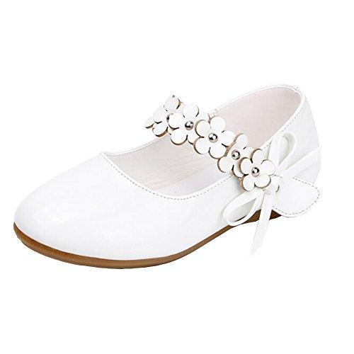 Lisianthus002 bambini, Little Girls-Scarpe per bambini, con motivo Dance Shoes, Bianco (bianco), Bambino 23,5 EU