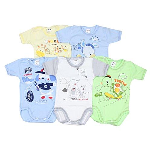 TupTam Unisex Baby Kurzarm-Body mit Aufdruck
