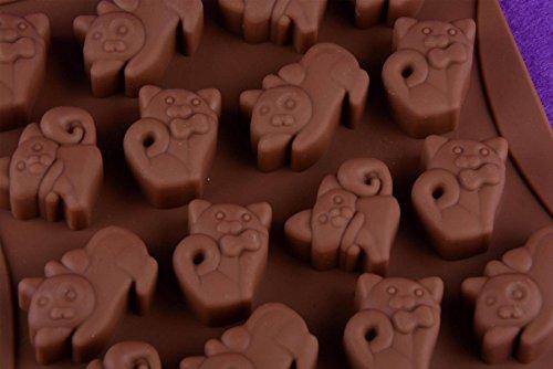 HHCD 10 Stücke Weihnachten Kuchen Cupcake Schokolade Kätzchen Silikonform Fondant Zuckerglasur Backform,Coffee-8*17*2cm (Cupcake Brown Ein Stück Kuchen)