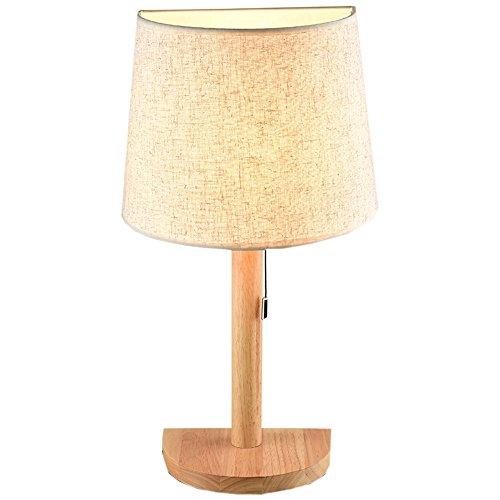 Massivholz Schlafzimmer Nachttisch Lampe kreative semi - kreisförmigen Basis Tuch Licht Abdeckung