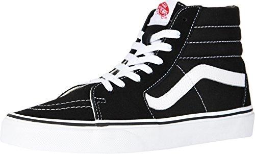 Vans sk8-hi, sneakers alti unisex - adulto, nero (black/white), 39 eu