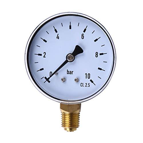 Laileya 60mm Dial 0-10bar NPT Gewinde-Einfassungs-Manometer Praktische Manometer Brennstoff Luft ?l-Wasser-Druckwerkzeuge Mess