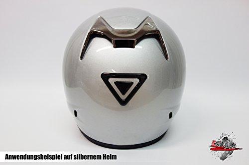 Helm Protector / Protektor 3D - 910030 - Reflex Schwarz Form 2 / reflektierender Aufkleber / Schutzaufkleber - reflektiert bei Lichteinfall - universell für alle Motorradhelme oder glatten Oberflächen