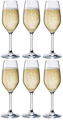 Rocco bormioli bicchieri divino flut cl 24 - confezione da 6 pz …
