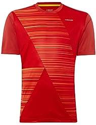 Head–Camiseta Speed Junior, Rojo, M de 140