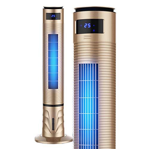 """Jyfsa 47\"""" Ventilador de Torre oscilación Que se enfría Ventilador Silencioso Sincronización Cabezal del Columpio Control Remoto Sin Palas del Tanque de Agua 4L (120 cm x 34 cm), 3 velocidades, Dorado"""