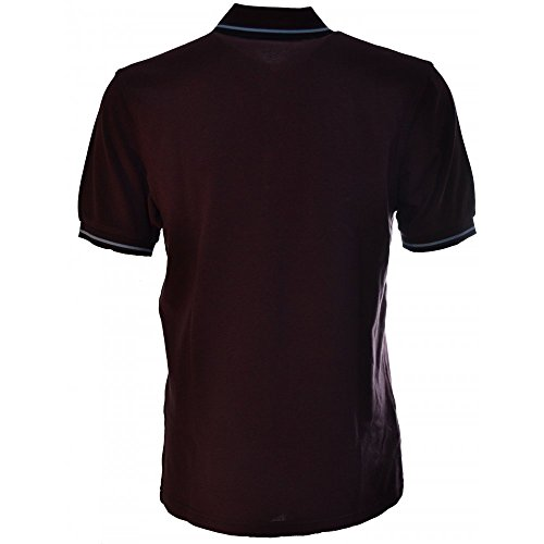 Fred Perry Mens Twin Tipped Polo Shirt Port