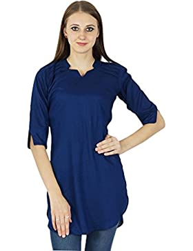 Diseñador indio Kurta Mujeres bollywood étnico de algodón ocasional Kurti Top túnica del vestido