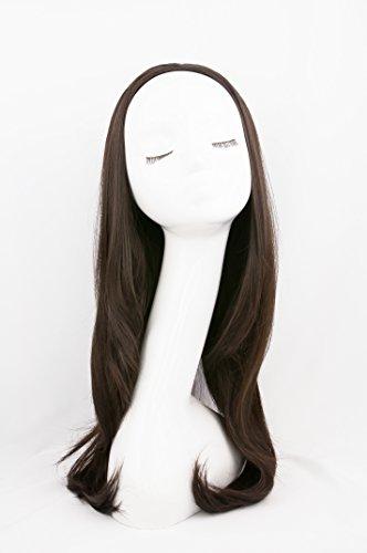 Bombshell 3/4-Perücke, Halbperücke, Haarteil, 61cm, hitzeresistent, Synthetik, lange dicke Haarverlängerung für Alltag und Party, verschiedene Farben -